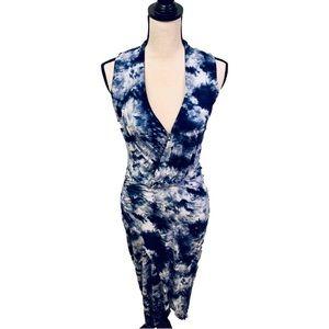 Lulu's | Tie Dye Midi Wrap Dress